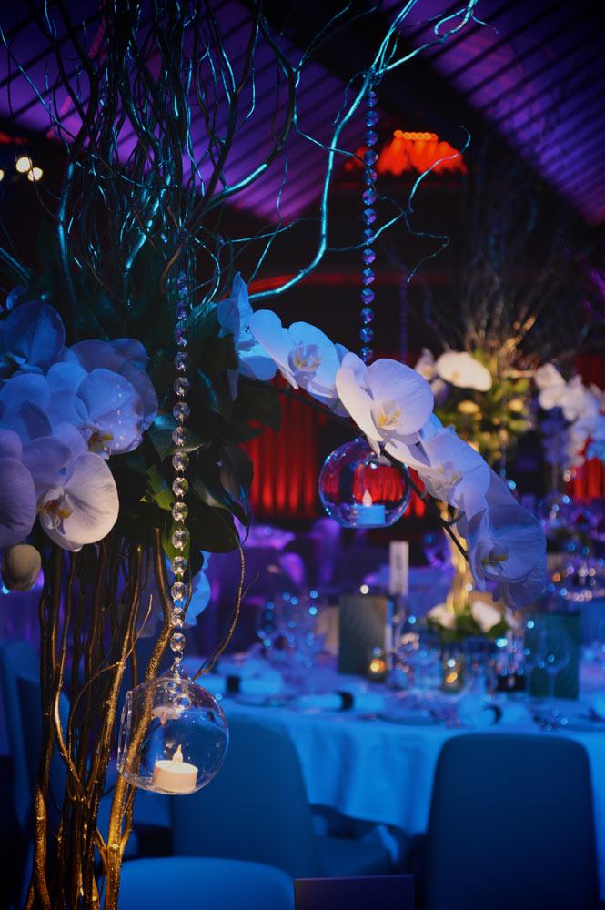 Quaglinos restaurant London table wash party lighting