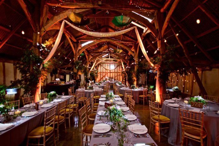 Alpheton hall barn party event lighting