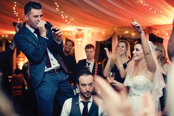Crazy Bear Stadhampton wedding lighting