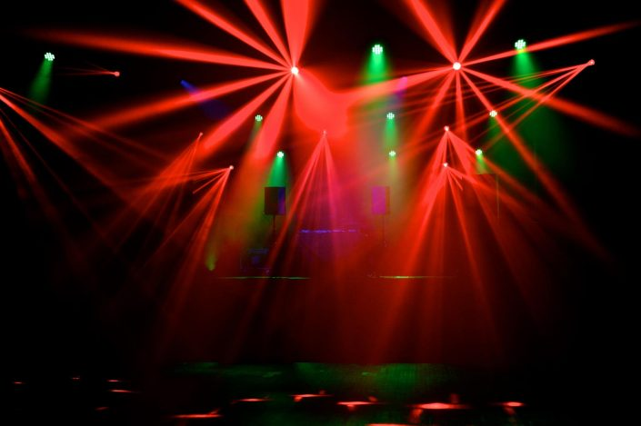 Harpenden hall rave lighting, lasers, dancefloor lighting