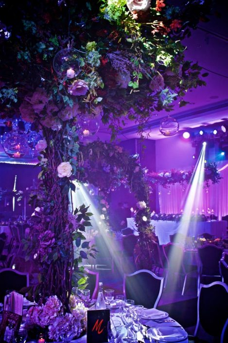 Hilton Syon Park lighting design festoon canopy indian wedding