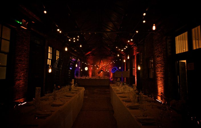 MC Motors Castle Gibson Event, Wedding, Corporate Party lighting design