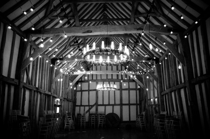 Micklefield Hall canopy lighting design romantic candles fairylights
