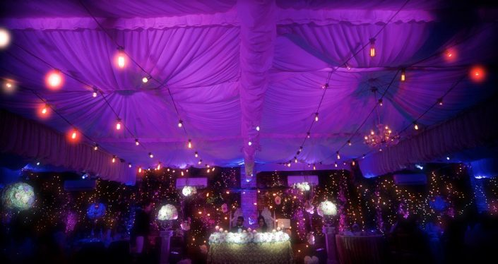 Northbrook House event lighting Draping design festoon indian wedding