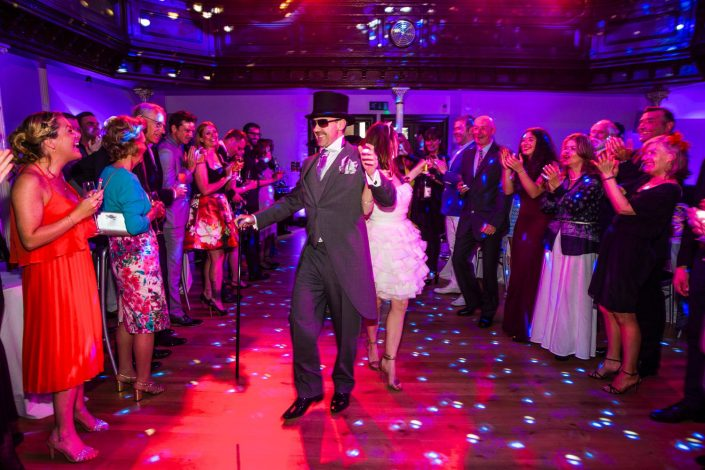 The Amadeus London wedding event lighting