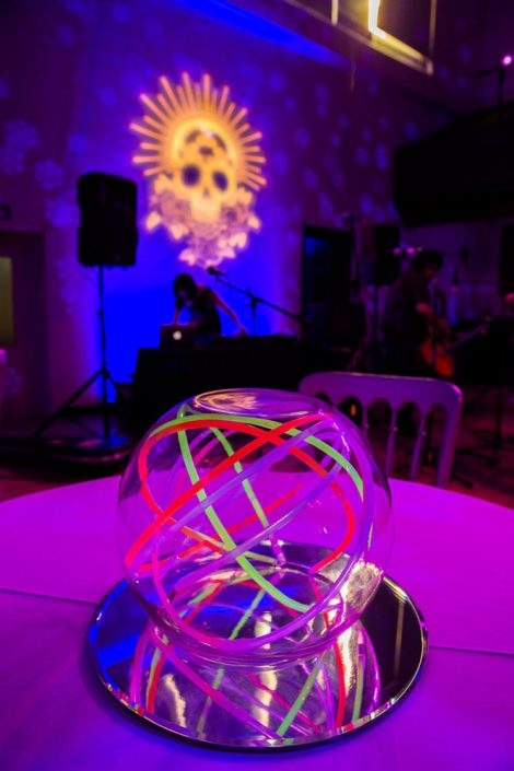 The Amadeus London wedding event lighting