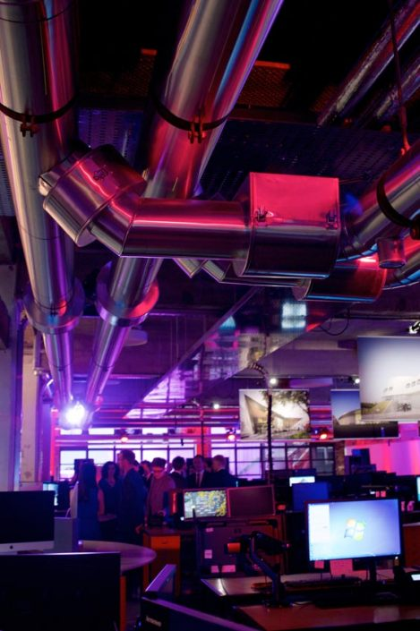 make architects corporate event party lighting