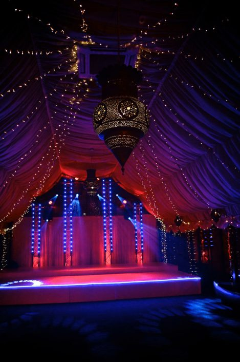 The Crazy Bear Stadhampton - wedding party event stage lighting - dancefloor show