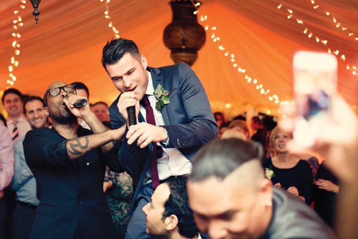 The Crazy Bear Stadhampton - wedding party event stage lighting - dancefloor show