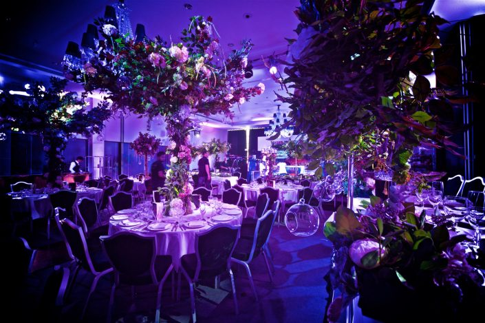 The Hilton Syon Park London - Indian Bride Wedding - Lighting design, backdrop, pinspotting, dance-floor uplighting