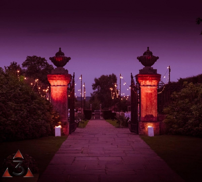 Four Seasons Hotel Hampshire wedding party and event lighting design