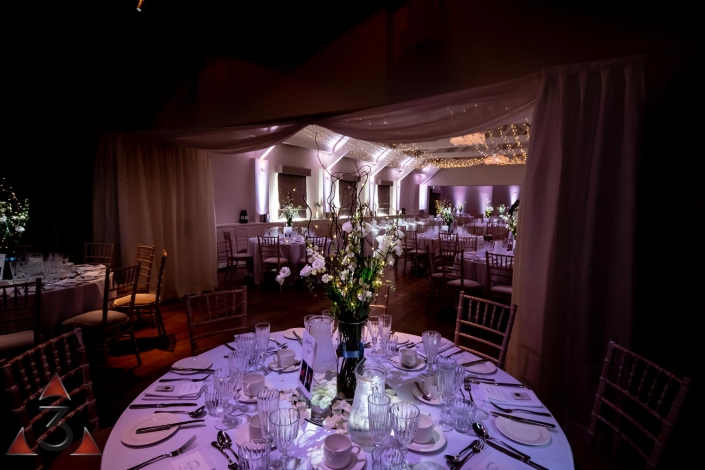 Stoke Place wedding party and event lighting design
