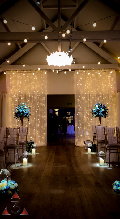 Stoke Place Hotel - wedding lighting ballroom party dinner design