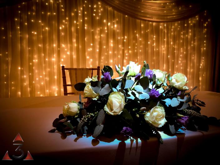 Stoke Place Hotel - wedding lighting ballroom party dinner design